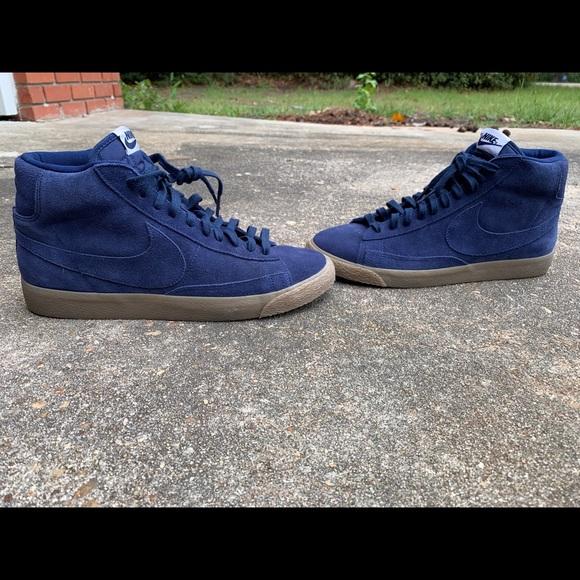newest 2267c 8309b **HOST PICK**Blue Suede Premium Nike Blazer Mid